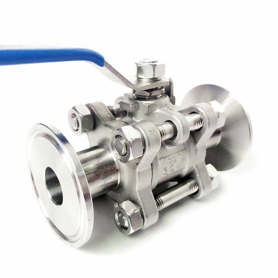 Verantwortlich Dn32 X 1,5 tri Clamp 3-stück Ball Abschaltung Ventil Sus 304 Edelstahl Industrie Sanitär Heimwerker