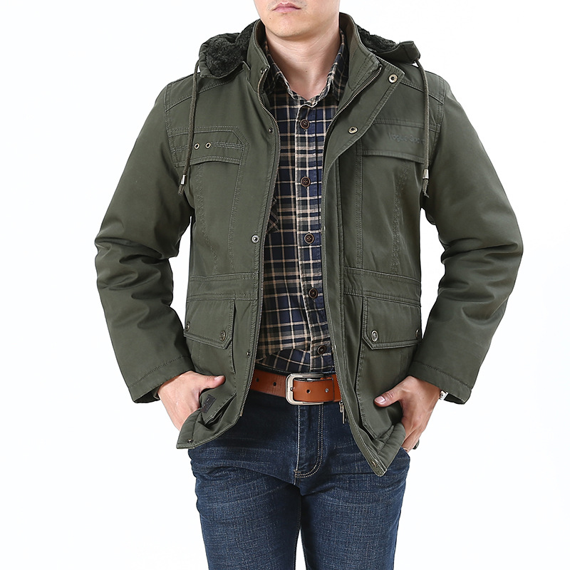 2018 New Arrival Winter Warm Fleece Hooded Jackets Big Size Long Sleeves Casual Outfit Middle Age Men Outwear Jacket Coat 4XL 5X