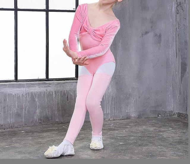 596d4ea2c91 Colorful Stretch Knitted Stripe Leg Warmers Girls Knee High Socks Ballet  Dance Pink Purple Free Shipping