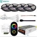SMD5050 RGB Flessibile Luce di Striscia PRINCIPALE Impermeabile/Non impermeabile DC12V 60led/m 20 M 15 M 10 M + RF Remote Controller + 12 V Alimentazione