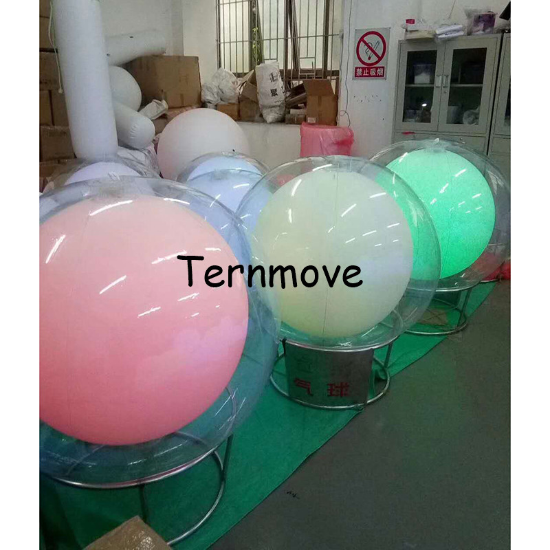 Funny Inflatable Double Layers Balloon Light LED Touch Color Changing Beach Ball Glow Throwing Balloon Light Wedding Party Decor