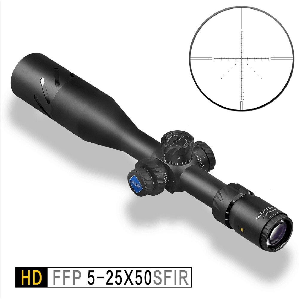 Découverte HD FFP 5-25X50 SFIR premier plan focal optique tactique lunette de tir et lunette de chasse portée de fusil avec éclairage