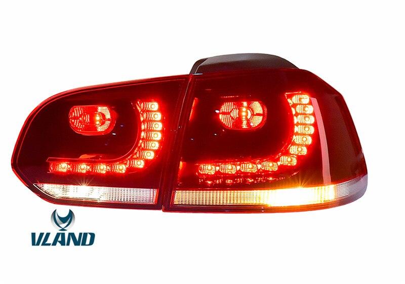 Бесплатная доставка задний фонарь заводской Вланд для Гольф 6 светодиодные задние фары МК6 Р20 фонарь красный и дыма Конструкция Подключей и играй