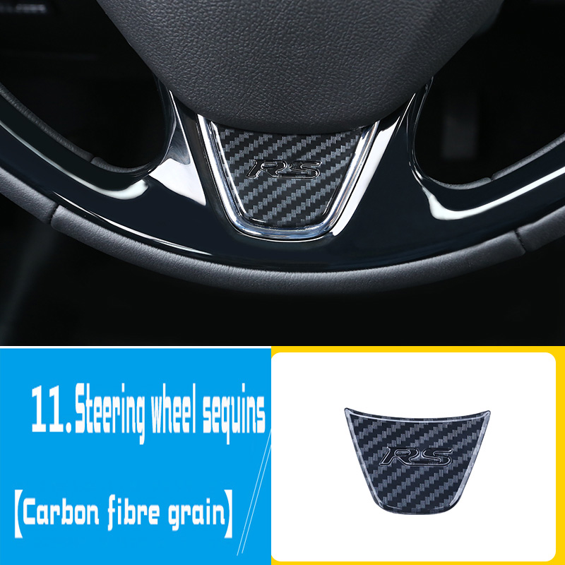 Car interior accessories are suitable for Mitsubishi Eclipse Cross Decorative Steering wheel decorative patch
