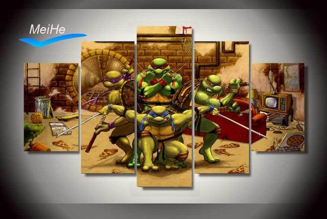 Gerahmte Gedruckt teenage mutant ninja turtles Malerei kinderzimmer ...