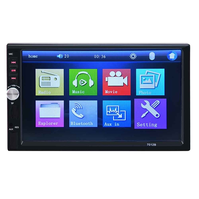 7 Inch Bluetooth V2.0 Car Audio Stereo 7012B Touch Screen MP5 Player Support TF MMC USB FM Radio Free Shipping
