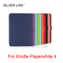 SILVER LINK Protective Case For Amazon Kindle Paperwhite 4 Case 2018 10th Generation E-reader cover Magnetic kindle case KC0048 silver link kindle voyage case up faux leather skin stander cover for kindle e reader auto sleep wakeup protector shell