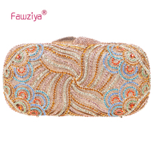 Fawziya Clutch Bag Women Luxury Paisley Clutch Bling Rhinestone Clutch Hard Case Clutch Purse