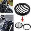 Black Aluminum 5 3 4 Motorcycle Anodized Headlight Grill Bezel Cover For Sportster Bobber Softail Dyna