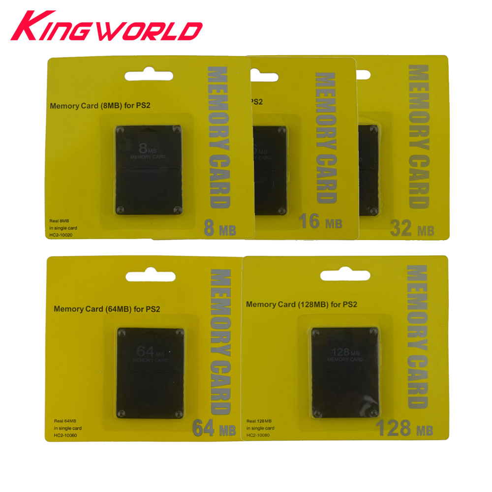 100pcs High Quality 8MB 16MB 32MB 64MB 128MB Memory Card for Sony Playstation 2 PS2