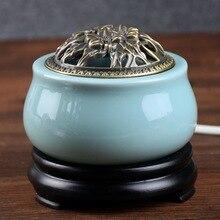 220-240V Timing Thermostat Electronic Sandalwood Furnace Ceramic Scented Ovens Incense table Burner Essential Oil Aroma A