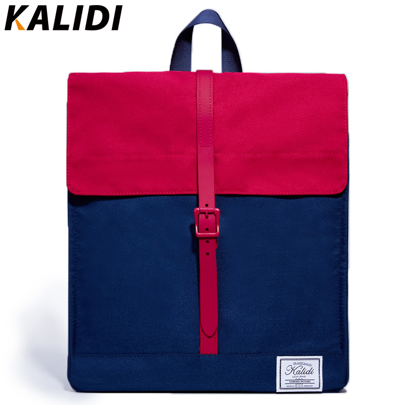 KALIDI  Mini Laptop Backpack Fashion Women Backpack Postman Package School Bakcpack Message bag for Mackbook 13 14 inch Ipad 2 3