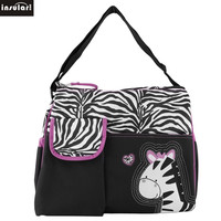 Insular Diaper Bags Zebra And Giraffe Pattern For Mother Baby Travel Mummy Handbag Multifunction Maternity Portable