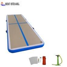 Надувной воздушный пол tumbl для гимнастики дома 4 м x 1 10