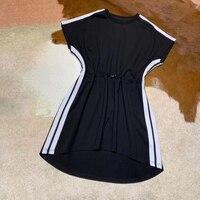 Европейский высокое качество платье с коротким рукавом роскошное Брендовое Платье женское 2019 розовое платье мини Повседневное платье с по