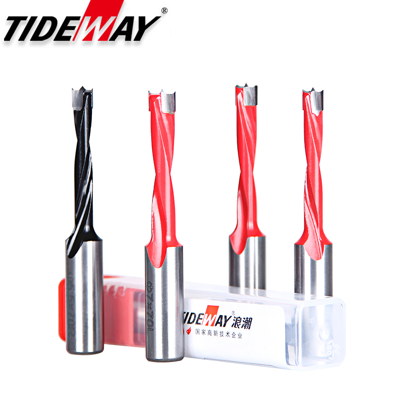 Tideway 1pc Woodworking Forstner Drill Bits Alloy Hole Opener 70mm Total Length Router Bit For Wood Carbide Crown Row Drill Head