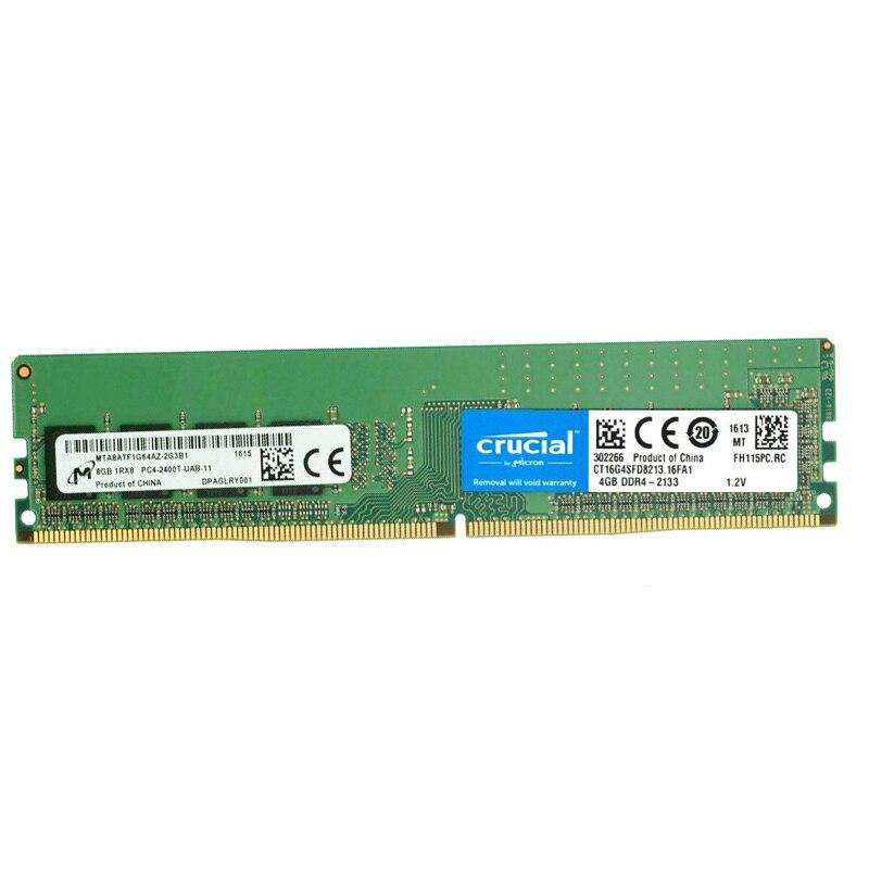 Crucial 4g 8 gb 16g DDR4 RAM PC4-19200 DDR4-2133HMZ 2400HMZ 2666 mhz 288 Broches Pour bureau