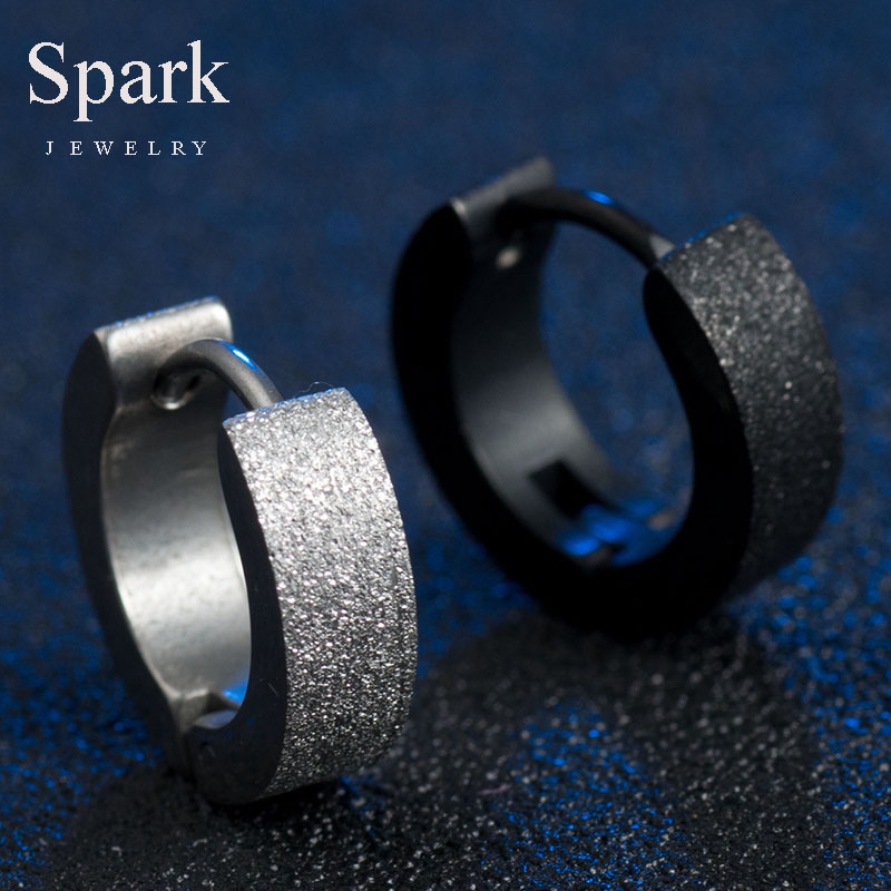 1 pcs New Arrive Personalized Stud Earrings 3 Colors Stainless Steel Frosted Stud Earrings Best Jewelry For Men & Women Gift