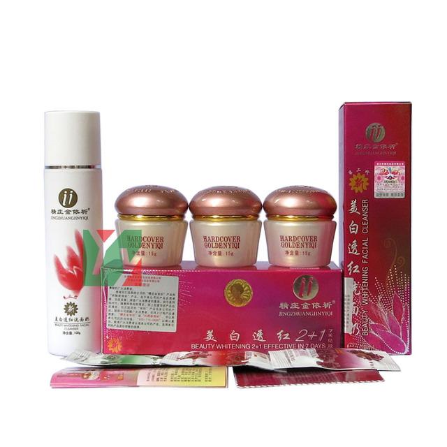 ¡ Caliente! Yi Qi Belleza Blanquear set 2 + 1 eficaces en 7 días blanqueamiento crema de día + crema de noche de Alta Botella