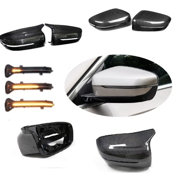 Serat Karbon Cermin Penutup F90 M5 Gaya Dinamis Blinker Cocok untuk BMW Seri 5 G30 G31 6 Series G32 7 seri G11 G12 LHD