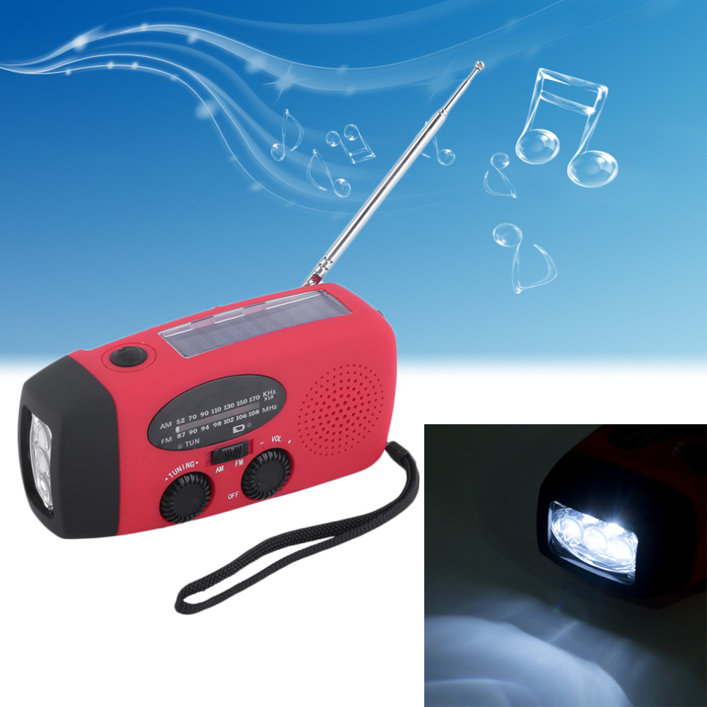 3 in 1 emergency charger hand crank generator with radio Wind up/Solar/Dynamo Powered FM/AM Radio,Phones Chargers LED Flashlight multifunctional crank dynamo am fm hand crank solar radio usb mobile phone charger led torch flashlight blutooth speaker
