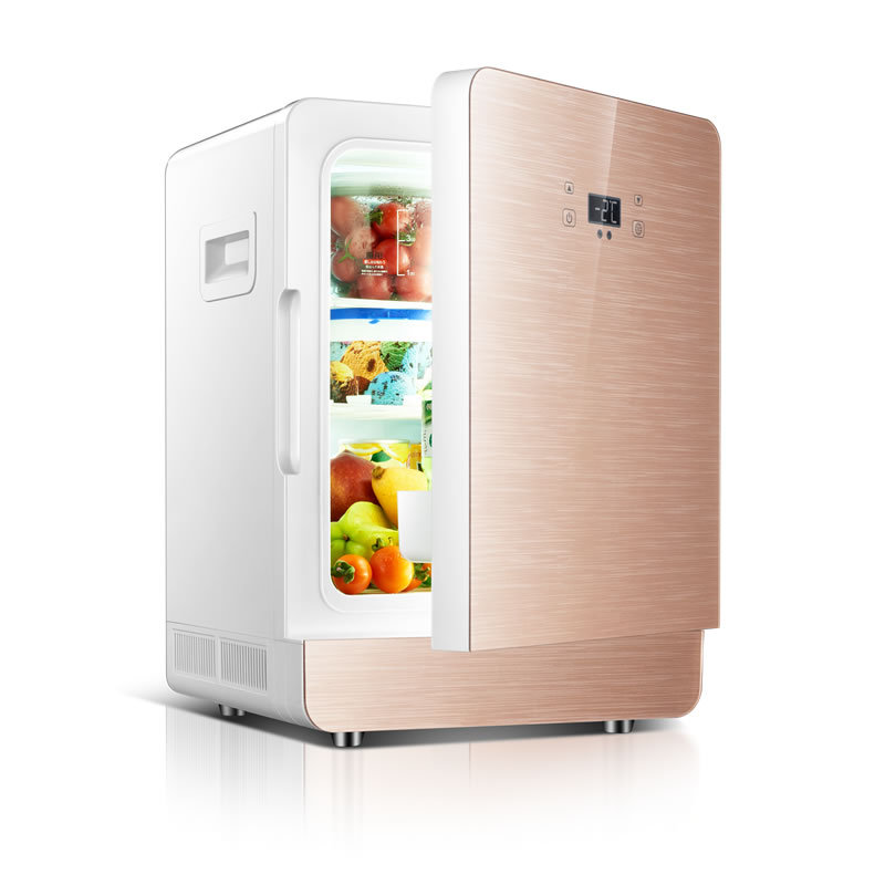 Car Refrigerator Car-Dual-Use-Cooler-Box Portable New 20L 12V 220V Dormitory Apartment title=