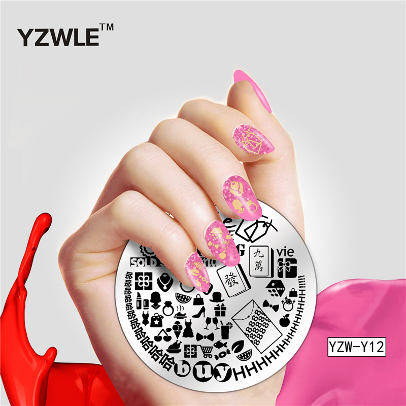 1 Pc Leopard Feather Lace Pattern Nail Art Stamp Template Image Plate YZWLE Stamping Plate