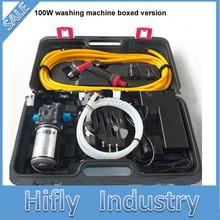 100 Вт 220 В адаптер 12 В высокого давления для мытья автомобиля Портативная стиральная машина электрическая автомобильная мойка