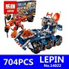 Nexoe Knights Axls Rollender Wachturm Model LEPIN 14022 704Pcs Building Kits Blocks Bricks Children Educational Toys