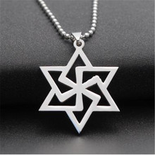 new simple mens silver stainless steel hexagram pendant necklaces sweater necklaces pendants for women choker fashion jewelry