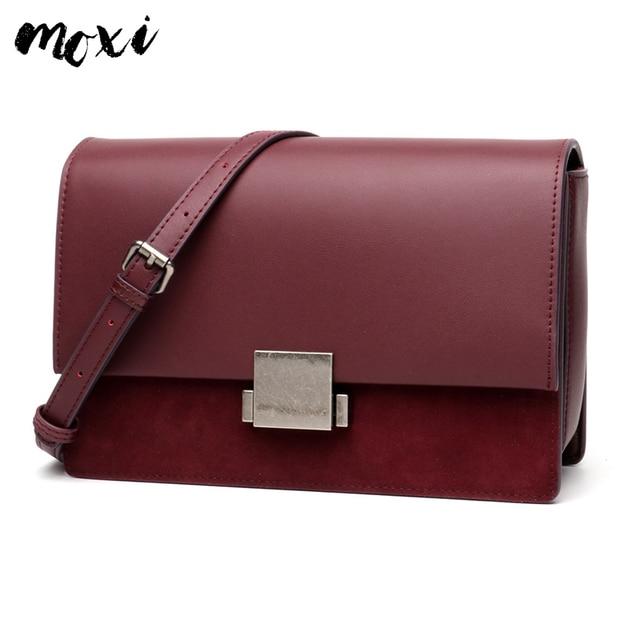 Moxi Women Handbag Genuine Leather Crossbody Bag Star Model Female  Messenger Bag Fashion Ladies Shoulder Bag Vintage Cowskin Bag 28da5fbdcceb0