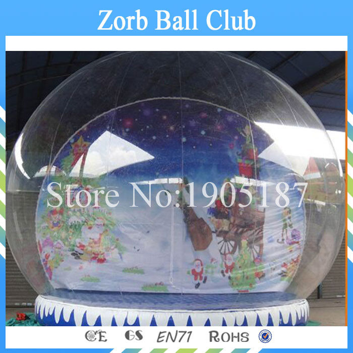 Free Shipping diameter 4m Chiristmas Inflatable Snow Ball,Snow Globe,Snowing Globe 3m diameter blow up snow ball inflatable snow globe inflatable human size snow globe balloons for chirstmas decoration
