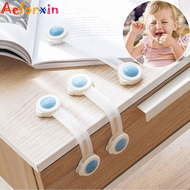 5Pcs/Lot Cute Smiley Face Child Protection Baby Child Safety Cabinet Lock Baby Security Drawer Lock Lock On The Fridge Baby Lock