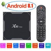 Android 8,1 ТВ коробка X96 MAX Amlogic S905X2 4 GB 64 GB 4 ядра 2,4G и 5 ГГц Wi-Fi 1000 м H.265 4 K Media Player Smart Декодер каналов кабельного телевидения X96MAX