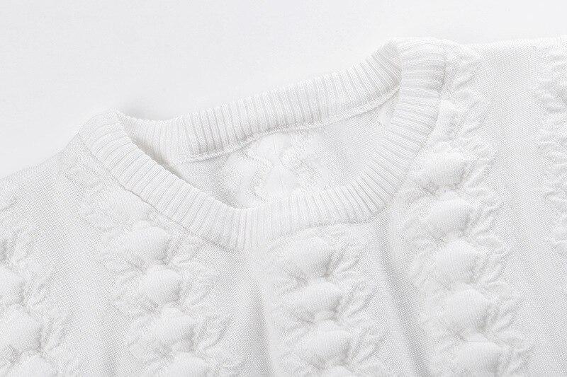 O Manches Tops Automne cou Femmes Hiver Géométrique Tricot Casual Pulls De Blanc Longues 2018 Nouvelles Mode Chandails Tricoté XxpwB7OqvY