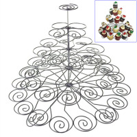 5 Tiers 41 Cups Cupcake Holder Iron Spray Paint Cupcakes Stand For Household Child Birthday Wedding