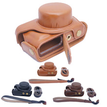 Роскошный pu кожа камера сумка для panasonic lumix gf7 gf8 камера кейс портативный вынуть батарею непосредственно чехол тела