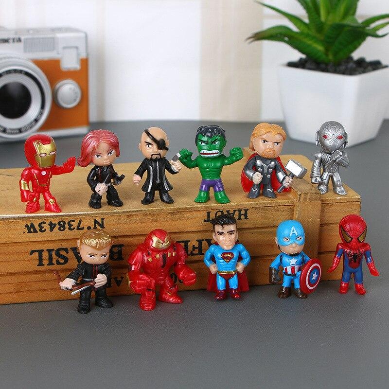 New Avengers endgame toys mini the Figures Batman Hulk Thor action Toys Superhero model for boys(free to ship)