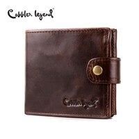 Cobbler Legend Real Cowhide Leather Bifold Clutch Men S Short Wallets Purses Male ID Credit Cards