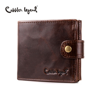 Cobbler Legend Real Cowhide Leather Bifold Clutch Men S Short Wallets Purses Male ID Credit Cards