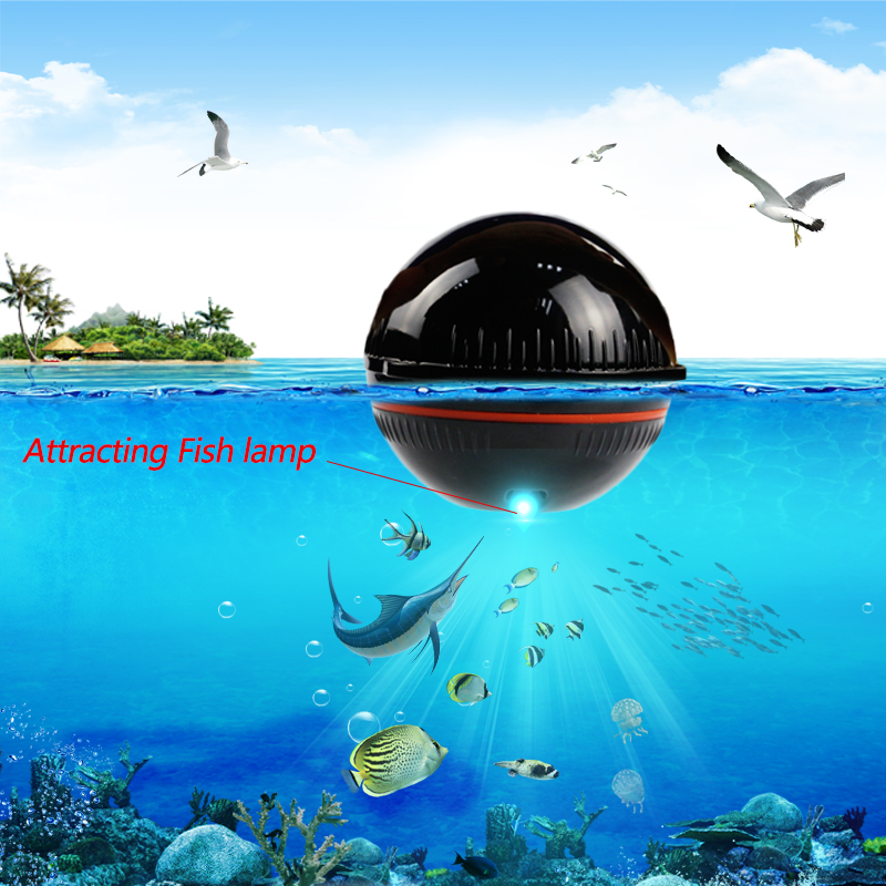Erchang Wireless Sonar Fish-Finder Depth-Lake Professional Attracting Portable with 48m/160ft