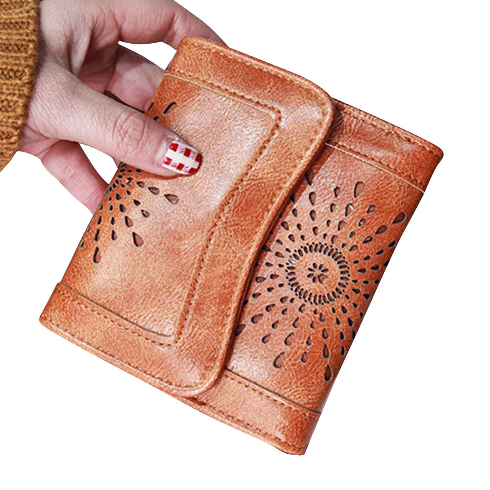 Aelicy Famous Brand Designer Hollow Out Walet Women Luxury Short Leather Purse Ladies Clutch Portemonnee Carteira Feminina 0908 ...