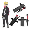 BORUTO -NARUTO THE MOVIE-  Naruto Boruto Kunai Packs Konoha Leg Bag 3 Size Available Naruto Ninja Cosplay Accessories Set