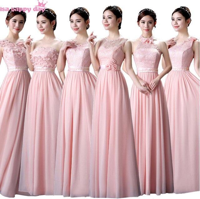 Tienda Online Pastel Rosa dama modesto vestido novia damas de honor ...