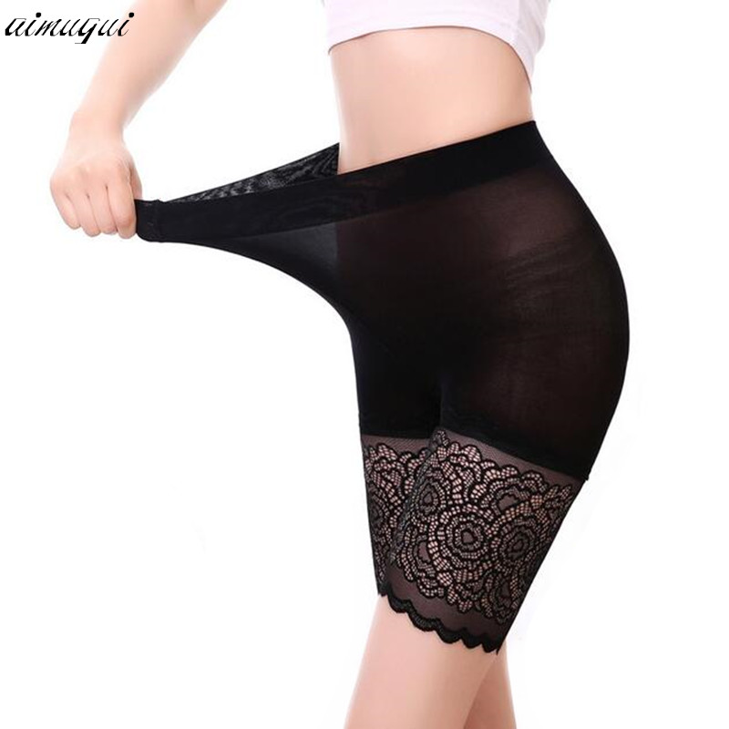 high waist safety short pants breathable slim underwear knickers sexy lace shorts under skirt casual summer panties boyshort Платье