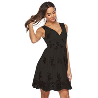 Women's sexy v neck sleeveless clothes with sequins club bandage black gold dress