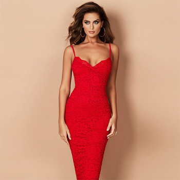 Spaghetti Strap V-Neck Sexy Night Out Club Dress Women Vestidos