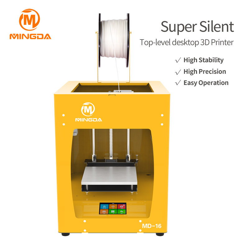 Professional High Precision Desktop 3D Printer Machine For Sale With Aluminum Plate Fdm 3D Printer Suppliers In China Md-16-8