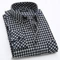 Осенью 2016 мужская мода сетки ветер сплайсинга отдых с длинными рукавами клетчатую рубашку