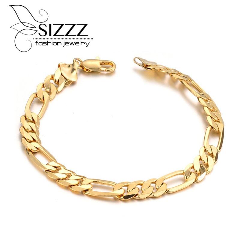 d6c9153200c2 Золотой браслет цепи очарование изделия мужские браслеты подарки  браслет-цепочка для мужчин оптовая продажа